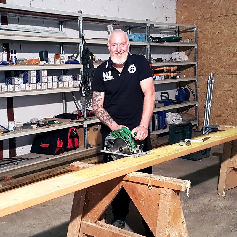 Bruno Berthier, charpentier couvreur