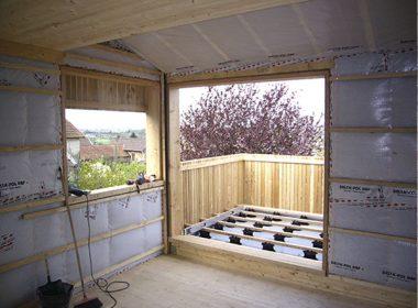 Réalisation extension maison bois